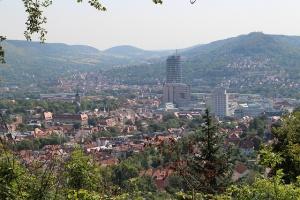 Ausblick über Jena